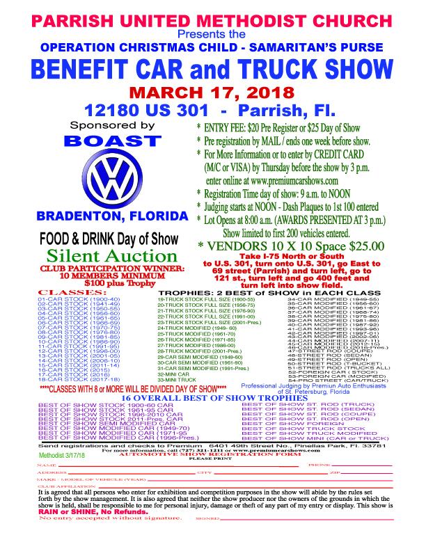 United Methodist Church Benefit and Car Show