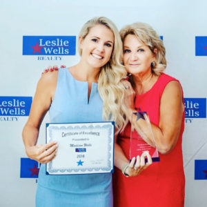 Leslie Wells Realty Top Producing Agent 2018
