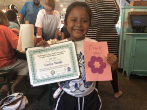 Leslie Wells Promotes AMOB Dive into Reading Program